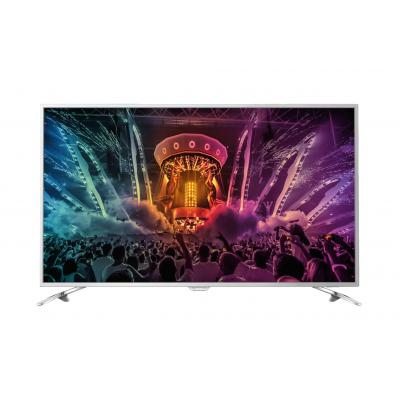 Philips led-tv: 6000 series Ultraslanke 4K-TV met Android TV™ 65PUS6521/12 - Zilver