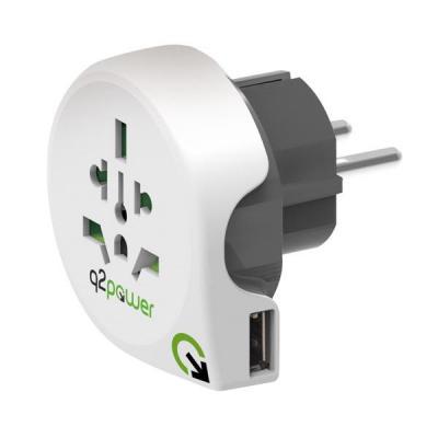 Q2-power 1.100110 stekker-adapter - Wit