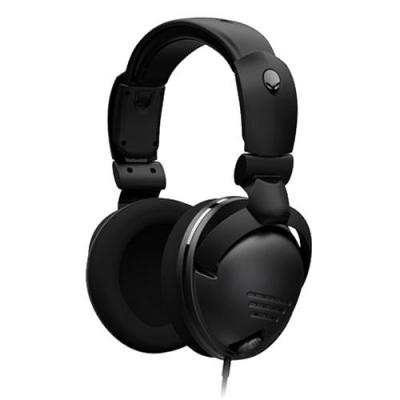 Dell headset: Alienware TactX - Koptelefoon With Adaptor, 16 - 28000 Hz, 40 Ohm, 110 dB - Zwart