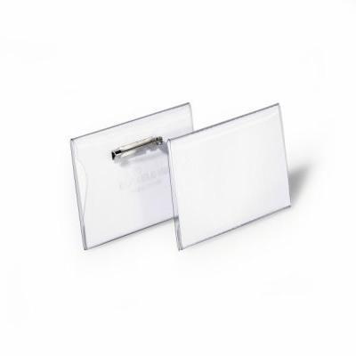Durable Universele Met Platte Speld 40 X 75 Mm Badge - Transparant