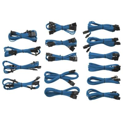 Corsair electriciteitssnoer: Professional Individually sleeved DC Cable Kit, Type 3 (Generation 2), BLUE - Blauw