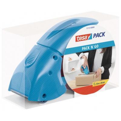 Tesa tape afroller: Hand dispenser pack-n-go - Blauw