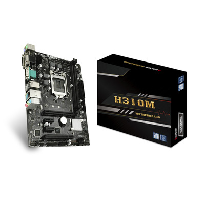 Biostar LGA 1151, 2x DDR4, SATA III, M.2, USB 3.2, 1G LAN, PS/2, HDMI, DVI-D, VGA, Micro ATX, 244x188 mm .....