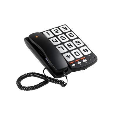 Topcom Corded, 731g, Black Dect telefoon - Zwart, Wit
