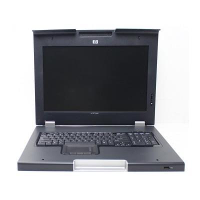 Hewlett Packard Enterprise Monitor and keyboard - Includes a 17-inch WXGA+ monitor (1600 x .....