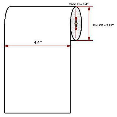 "Datamax O'Neil Premium 4.40"" x 125' thermal papier"