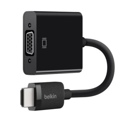 Belkin HDMI/VGA-adapter met micro-USB-aansluiting voor de stroomvoorziening - Zwart