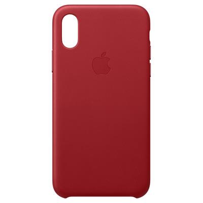 Apple mobile phone case: Leren hoesje voor iPhone XS - (PRODUCT)RED - Rood