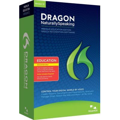 Nuance stemherkenningssofware: Dragon NaturallySpeaking 12.0 Premium, EDU