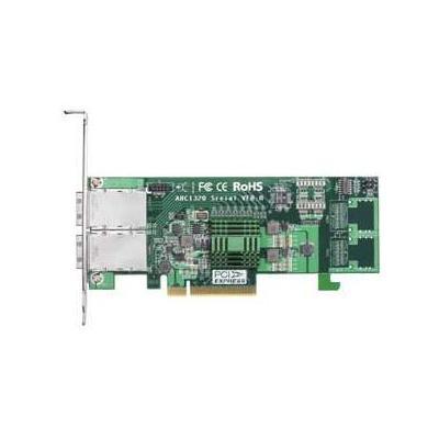 Areca PCIe 2.0 x8, 2 x Mini SAS (SFF-8088), SAS/SATA, 6Gb/s, 8 Ports Interfaceadapter - Groen, Grijs