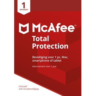 Mcafee algemene utilitie: Total Protection 2018, 1 Device (Dutch)