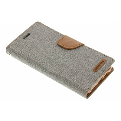 Canvas Diary Booktype Samsung Galaxy J5 - Grijs / Grey Mobile phone case