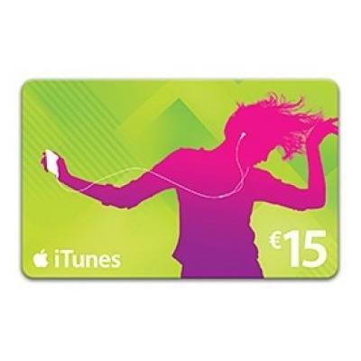 Apple cadeaubon: iTunes Card Cadeaucard twv 15 euro
