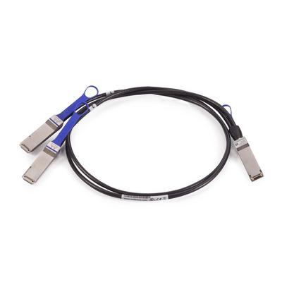 Mellanox Technologies 4m, LSZH, 2xQSFP28/QSFP28, 100 Gbit/s Fiber optic kabel - Zwart