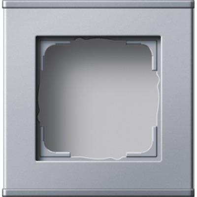 GIRA Profiel 55 voor verticale en horizontale installatie enkelvoudig - Aluminium