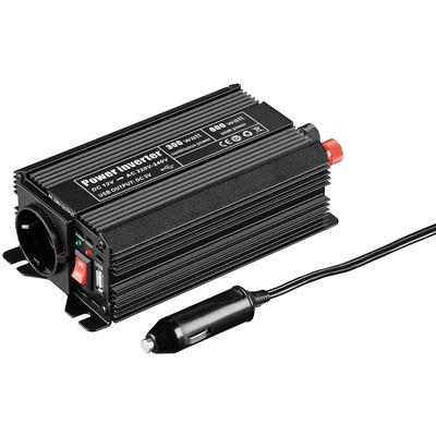 Goobay Car Voltage Converter DC/AC Voltagetransformator - Zwart