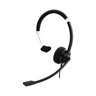 V7 Deluxe Mono, USB, boom mic, Adjustable Headband for PC, Mac, Laptop Computer, Chromebook, Black Headset - Zwart