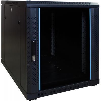 DS-IT 12U mini serverkast met glazen deur 600x800x635mm (BxDxH) Rack