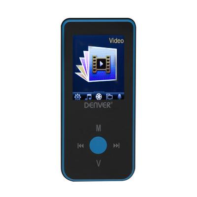 Difrnce Denver MP4-player MPG-4084BTBLUE 4GB MP3/MP4-spelers