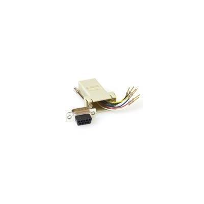 Intronics kabel splitter of combiner: Monteerbare heavy duty verloop adapter D-sub 9-polig - modulair