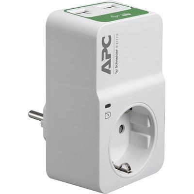 APC SurgeArrest Tussenstekker met overspanningsbeveiliging 3680W 1x stopcontact + 2x USB Surge protector