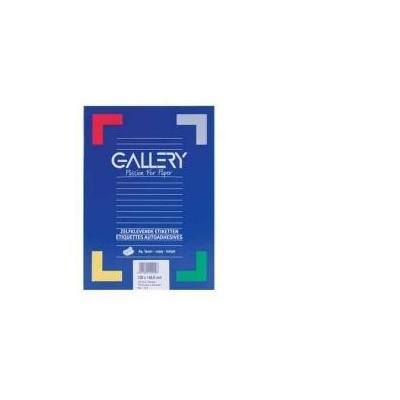 Gallery etiket: Labels 38.1 x 21.2mm 100 sheets - Wit