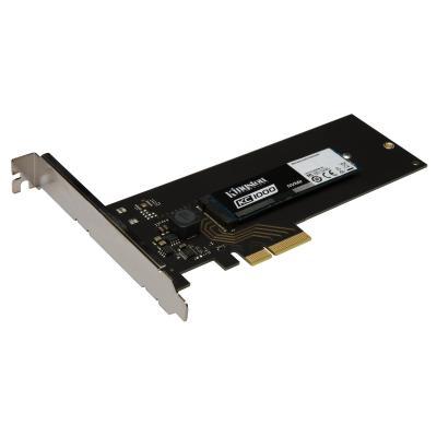 Kingston Technology SSD: KC1000 NVMe PCIe SSD 480GB, HHHL - Zwart