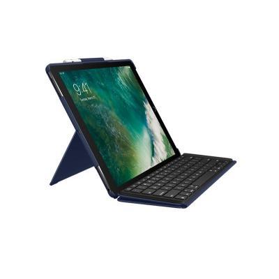 Logitech mobile device keyboard: Slim Combo - Blauw, QWERTZ