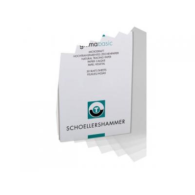 Schoellershammer kantoorartikelen: Tekenpapier transp. A3 90-95g/blok 50v