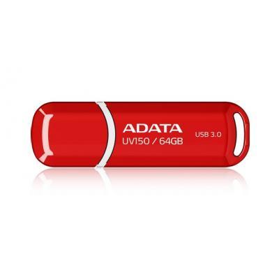 Adata USB flash drive: 64GB DashDrive UV150 - Rood