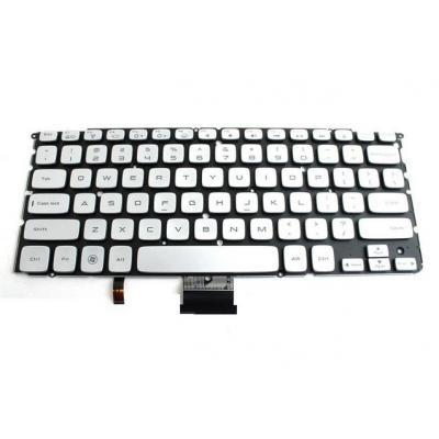 Dell notebook reserve-onderdeel: Keyboard (US/International), Black/White - Zwart, Wit