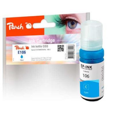 Peach Ink Bottle cyan compatible with Epson C13T00R240