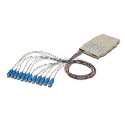 ASSMANN Electronic 12 SC, 62,5/125µ OM1 Fiber optic adapter - Beige