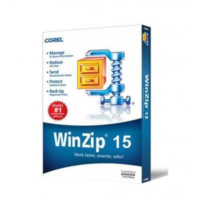 Corel backup software: WinZip 15 Standard, MNT, 50-99u, 1y