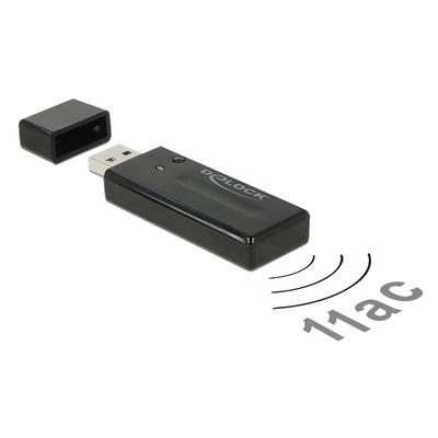 DeLOCK USB 3.0 Dual Band WLAN ac/a/b/g/n Stick 867 Mbps Netwerkkaart - Zwart