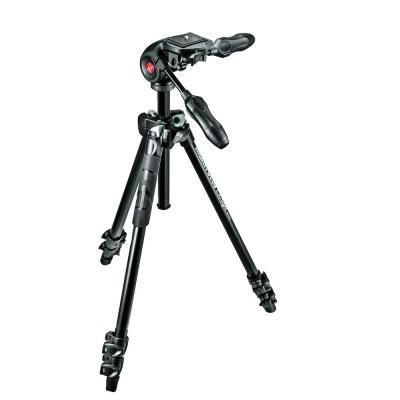 Manfrotto tripod: 290 LIGHT Kit, Alu 3 sec. tripod with foldable 3W head - Zwart