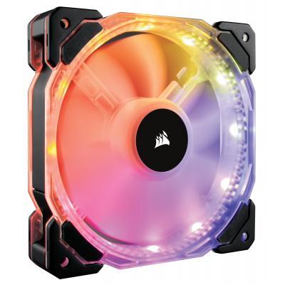 Corsair Hardware koeling: 1 x 140mm, Static Pressure, Hydraulic, RGB, PWM, 1350rpm, 74 CFM - Zwart, Doorschijnend