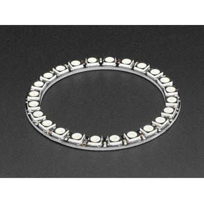 Adafruit decoratieve verlichting: 24x 5050 RGBW LEDs, Warm White, 3000K - Zwart