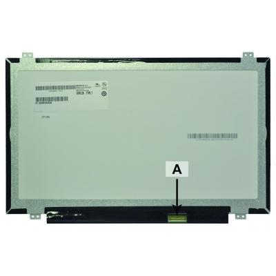 "2-power notebook reserve-onderdeel: 35.56 cm (14.0 "") WUXGA 1920 x 1080 LED Matte w/IPS - Zwart"