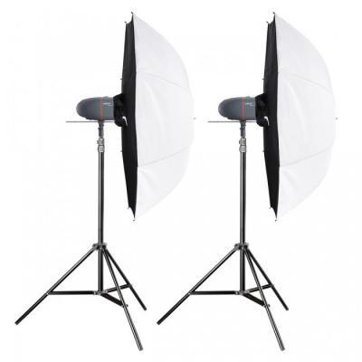 Walimex fotostudie-flits eenheid: pro Newcomer Studioset Mini 200 - Zwart, Grijs