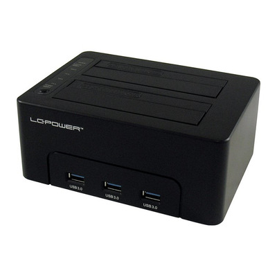 LC-Power LC-DOCK-U3-HUB HDD/SSD docking station - Zwart