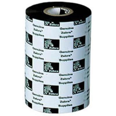 Zebra 5555 Enhanced Wax/Resin, 110mm Printerlint - Zwart