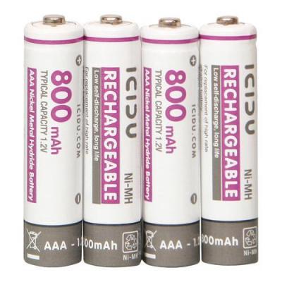 ICIDU batterij: Lange levensduur Low Discharge oplaadbare batterijen AAA 800 mAh - Wit