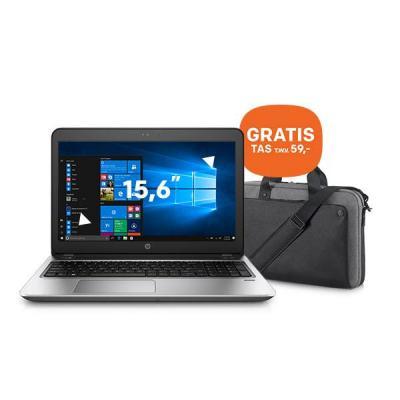 Hp laptop: ProBook ProBook 450 G4 15.6 inch i5-processor 128GB + GRATIS tas (P6N20AA) - Zilver