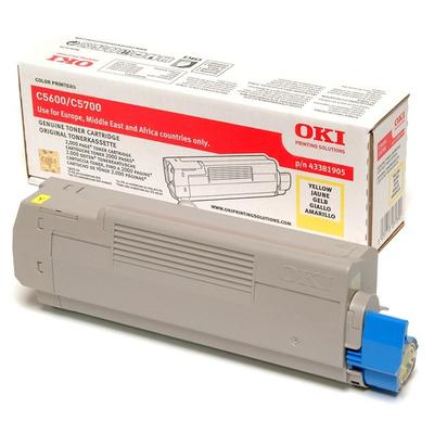 OKI cartridge: Tonercartridge voor C5600/C5700, Geel