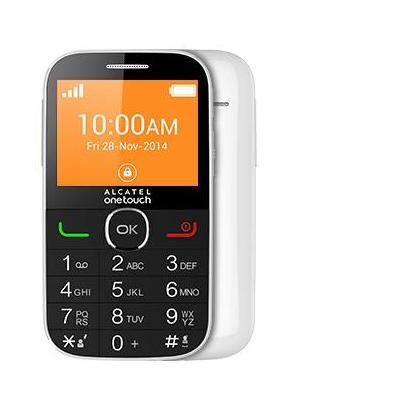 Alcatel mobiele telefoon: De ONETOUCH seniorentelefoon Wit - Zwart