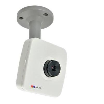 "ACTi 10MP, 1080p, 30 fps, 1/3.2"" CMOS, 8 kHz, Mono, PCM, Fast Ethernet, PoE, 3.84 W Beveiligingscamera - Zwart, Wit"