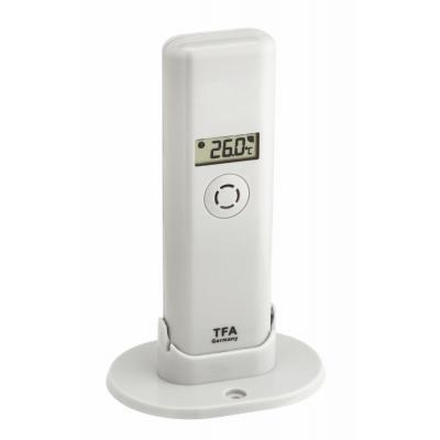 TFA-Dostmann temperatuur straalzender: 868 Mhz, 200m, -40 - 60 °C, 83x35x129mm, 42g, White - Wit