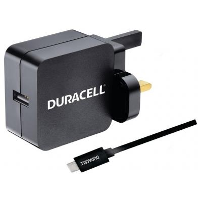 Duracell USB Type-C Cable + USB Charger Oplader - Zwart