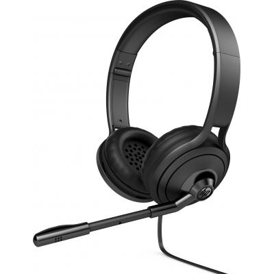 HP 500 headset - Zwart